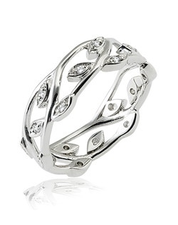 Based on 14K. The fit is F, in size 7.00, and the width is 6.5 mm. The total diamond weight is 0.180, consisting of: Qty 18 - VS, G/H - 0.010ct. Round diamonds.  Multi-Color Ring. Available in 10K, 14K and 18K Gold and Platinum. Gold price is based on 1215 gold. Prices do not include the center diamond.