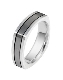 Based on 14K. The fit is CF, in size 10.00, and the width is 6 mm. Blends of White. Multi-Color Ring. Available in Silver, 10K, 14K and 18K Gold, 18K & Platinum, Titanium,  Silver & Titanium, 10K, 14K or 18K & Titanium, Palladium & Titanium, 14K & Palladium. Gold price is based on 1215 gold.