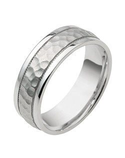 Based on 14K. The fit isCF, in size10.00, and the width is7 mm. Carved & Engraved, Multi-Color Ring. Available in Silver, 10K, 14K and 18K Gold, Platinum, Palladium, 14K & Palladium, 18K & Platinum. Gold price is based on 1215 gold.
