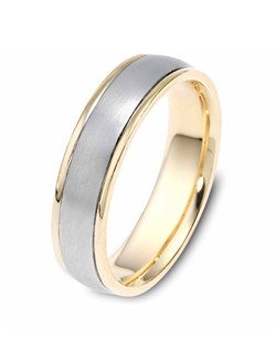Based on 14K. The fit is CF, in size 10.00, and the width is 5.5 mm. Multi-Color Ring. Available in Silver, 10K, 14K and 18K Gold, 18K & Platinum, Titanium,  Silver & Titanium, 10K, 14K or 18K & Titanium, Palladium & Titanium, 14K & Palladium. Gold price is based on 1215 gold.