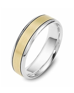 Based on 14K. The fit is CF, in size 10.00, and the width is 7 mm. Multi-Color Ring. Available in Silver, 10K, 14K and 18K Gold, 18K & Platinum, Titanium,  Silver & Titanium, 10K, 14K or 18K & Titanium, Palladium & Titanium, 14K & Palladium. Gold price is based on 1215 gold.