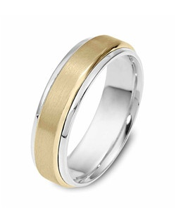 Based on 14K. The fit is CF, in size 10.00, and the width is 6.5 mm. Multi-Color Ring.  Available in Silver, 10K, 14K and 18K Gold, 18K & Platinum, Titanium,  Silver & Titanium, 10K, 14K or 18K & Titanium, Palladium & Titanium, 14K & Palladium. Gold price is based on 1215 gold.