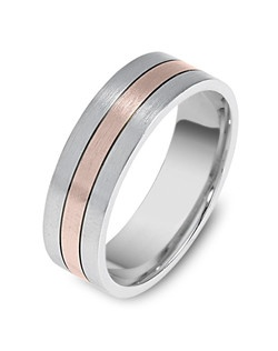 Based on 14K. The fit isCF, in size10.00, and the width is6.5 mm. Multi-Color Ring.  Available in Silver, 10K, 14K and 18K Gold, 18K & Platinum, Titanium,  Silver & Titanium, 10K, 14K or 18K & Titanium, Palladium & Titanium, 14K & Palladium. Gold price is based on 1215 gold.