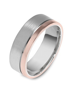 Based on 14K. The fit isCF, in size10.00, and the width is7.5 mm. Multi-Color Ring. Available in Silver, 10K, 14K and 18K Gold, 18K & Platinum, Titanium,  Silver & Titanium, 10K, 14K or 18K & Titanium, Palladium & Titanium, 14K & Palladium. Gold price is based on 1215 gold.