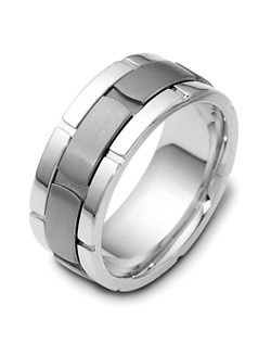 Based on 14K & Titanium. The fit is FCF, in size 10.00, and the width is 9 mm. Multi-Color Ring. Available in Silver, 10K, 14K and 18K Gold, Platinum, Titanium,  Silver & Titanium, 10K, 14K or 18K & Titanium, Palladium & Titanium. Gold price is based on 1215 gold.