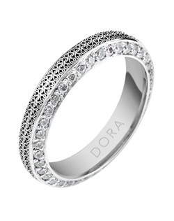 Based on 14K. The fit isCF, in size7.00, and the width is4.5 mm. The total diamond weight is 1.125, consisting of: Qty 75 - VS, G/H - 0.015ct. Round diamonds. Multi-Color Ring.  Available in 10K, 14K and 18K Gold, Silver, Palladium and Platinum. Gold price is based on 1215 gold. Price includes setting.