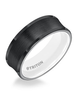 8mm Concave Black TungstenAIR Comfort Fit Band with Arctic White Inside Color. Price listed is an estimate only.
