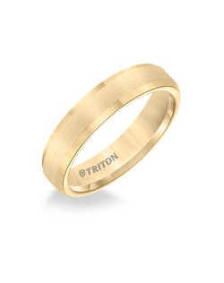 5mm Bevel Edge Yellow Tungsten Carbide Comfort Fit Band. Satin Center, Bright Bevels. Price listed is an estimate only.