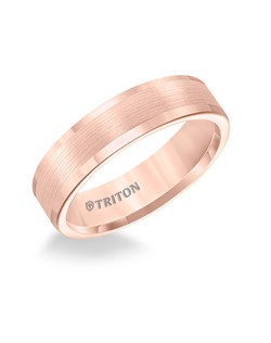 6mm Flat Rose Tungsten Carbide Roll Edge Comfort Fit Band. Satin Center, Bright Edge. Price listed is an estimate only.