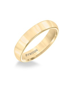 5mm Domed Yellow Tungsten Carbide Comfort Fit Band. Bright Polish. Price listed is an estimate only.