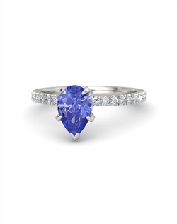 This stunning pear-shaped ring will flatter your finger. It's elegant tapering gem is so distinctive, it transforms this classic style into something beautifully distinctive. Customize with your choice of 24 gemstones and 9 precious metals.