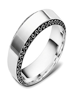 Based on 14K. The fit isCF, in size10.00, and the width is7.5 mm. Available in Silver, 10K, 14K and 18K Gold, Palladium and Platinum. Gold price is based on 1215 gold.