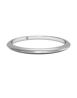 Women's Classic Knife-Edge Wedding Band in 14kt White Gold. Price includes setting.