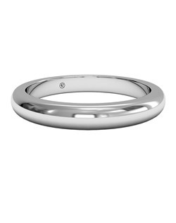 Women's Classic Wedding Band in 18kt White Gold. Price includes setting.