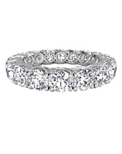 Women's Classic Slim Diamond Eternity Band in 18kt White Gold (2.86 CTW). Price includes center stone and setting.