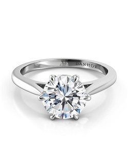 18k white gold  setting , center stone not inlcuded