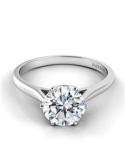 18k white gold solitaire mounting, center stone not included