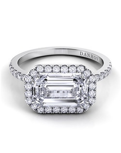 18k white gold  setting with .47 tcw of diamonds, center stone not included