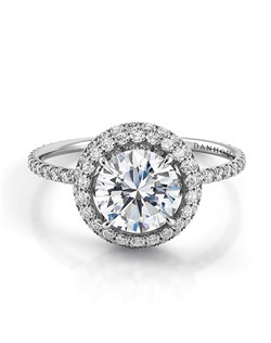 18k white gold setting with .63 tcw of diamonds, center stone not included