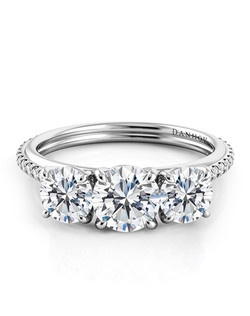 Platinum setting with  .67 tcwdiamonds  in shank, center diamond not included