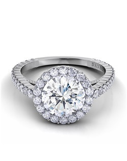 Platinum setting with .52tcw of diamonds, center stone not included