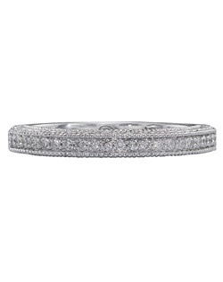 Christopher Designs band with round diamonds set in 18K White Gold.