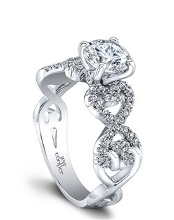 (Available in PLAT,18K,14K)-CENTER-RBC 6.5mm, SIDE DIA 58RBC=0.26ct. Price excludes center stone.