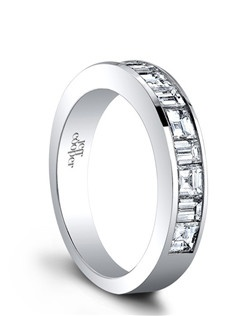 (Available in PLAT,18K)- SIDE DIA 5BAG=0.50ct,6SQ=0.95ct. Price includes setting.
