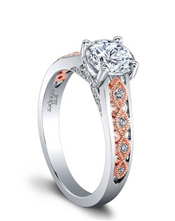 (Available in PLAT,18K,14K)- CENTER RBC 6.5mm, SIDE DIA 32RBC=0.15ct Price excludes center stone