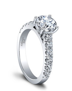 (Available in PLAT,18K,14K)- CENTER-RBC 7.0mm, SIDE DIA 12RBC=0.66ct Price excludes center stone