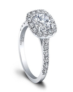 (Available in PLAT,18K,14K)-CENTER-RBC 6.5mm, SIDE DIA 26RBC=0.76ct. Price excludes center stone.