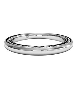 Women's Classic Braided Wedding Band in 14kt White Gold. Price includes setting.