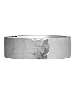 Men's Forged Wedding Ring in Platinum. Price includes setting.