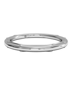 Women's Modern Sculptured Wedding Band in Platinum. Price includes setting.