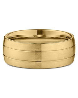 Men's Banded Satin-Finish Wedding Ring in 18kt Yellow Gold. Price includes setting.