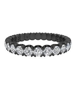Classic Diamond Stackable Band with Black Finish in 18kt White Gold (1.17 CTW). Price includes center stone and setting.