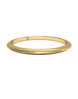 Women's Classic Knife-Edge Wedding Band in 18kt Yellow Gold. Price includes setting.