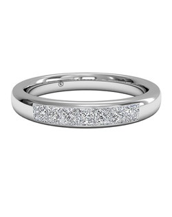 Women's Channel-Set Diamond Wedding Band in Platinum (0.25 CTW). Price includes center stone and setting.
