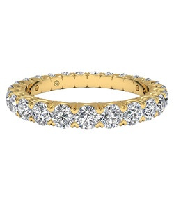 Women's Shared-Prong Diamond Wedding Band in 18kt Yellow Gold (1.25 CTW). Price includes center stone and setting.