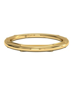 Women's Modern Sculptured Wedding Band in 18kt Yellow Gold. Price includes setting.