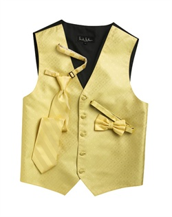 A textured diamond pattern lends modern appeal to this fun canary yellow five-button . An adjustable back strap guarantees the perfect fit.