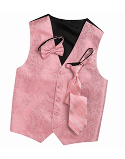 Subtly sophisticated, this candy pink five-button  has a stylized paisley print for a modern touch. An adjustable back strap allows for a custom fit.