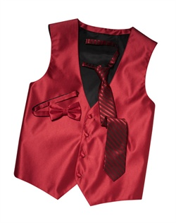 Featuring a subtle texture and an updated silhouette, this guava red four-button vest  brings an extra dose of style to your formalwear. An adjustable back strap allows for optimum comfort.