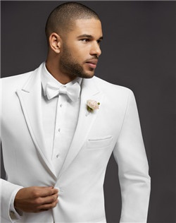Two-Button Satin-Edge Peak Lapel