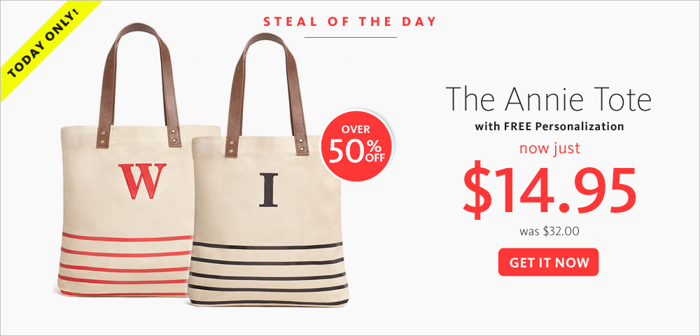 Today's Steal! The Annie Tote $14.95