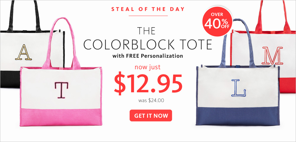 Today's Steal! The Colorblock Tote $12.95