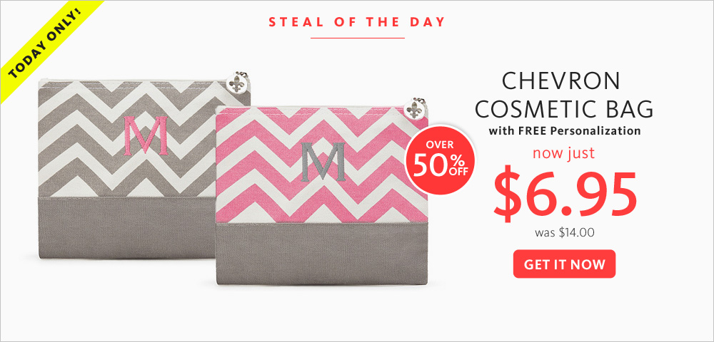 Today's Steal! Chevron Cosmetic Bag $6.95