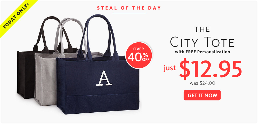 Today's Steal! The City Tote $12.95