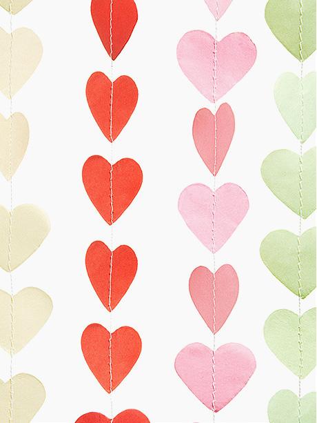 Mini Paper Heart Banners