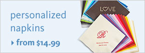 Personalized Napkins from $14.99